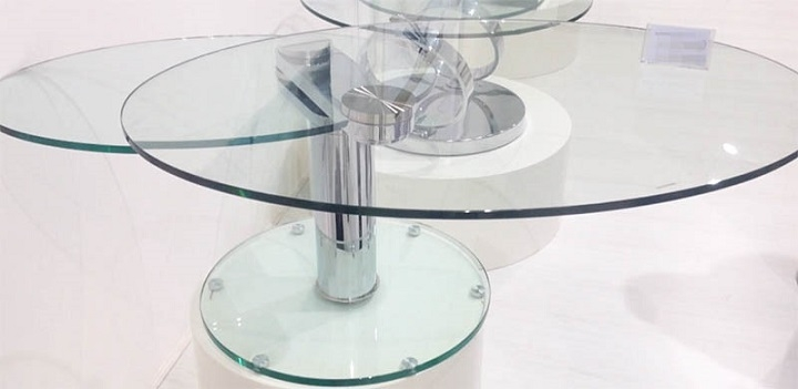 Great Elite Revolving Glass Coffee Tables Inside Swing Oval Rotating Coffee Table (Image 16 of 40)