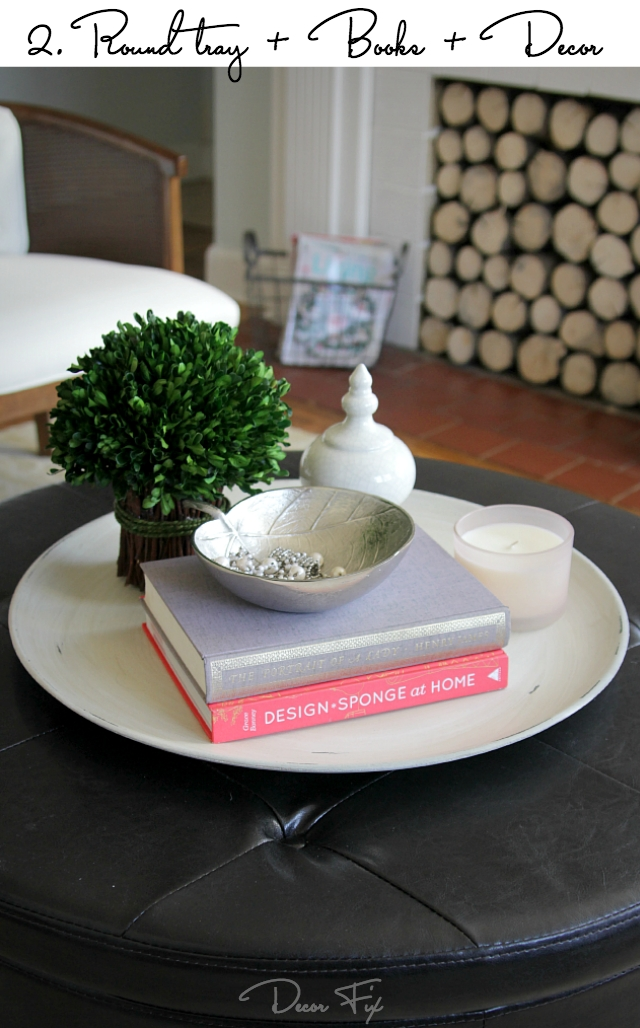 Great Elite Round Coffee Table Trays Inside How To Style A Round Coffee Table Decor Fix (Image 22 of 50)