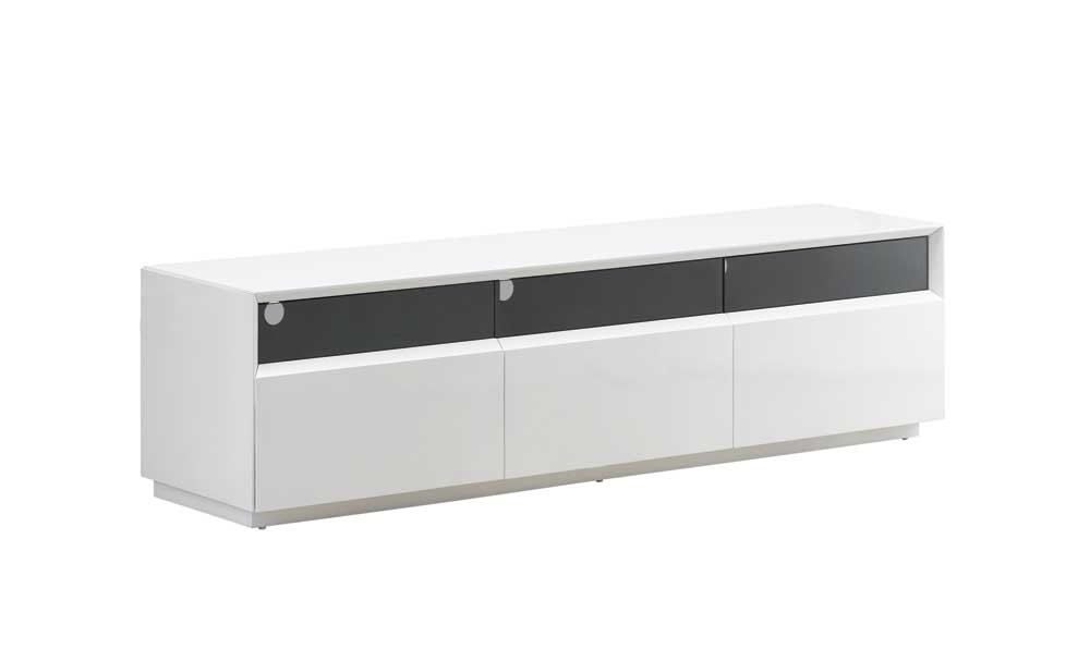Great Elite White Gloss TV Stands With Drawers With Regard To Tv023 White High Gloss Tv Stand J M Furniture (Image 15 of 50)