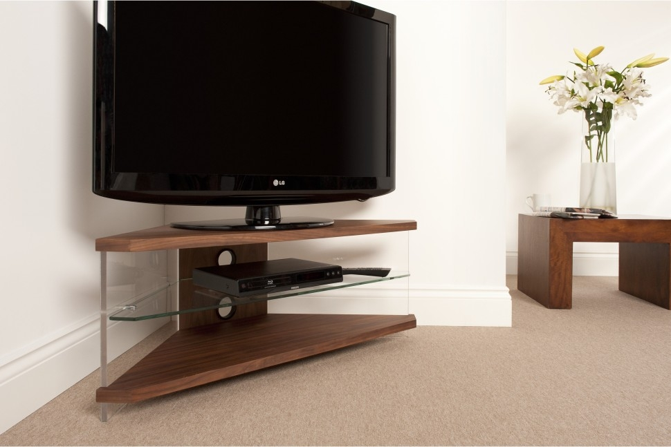 Great Elite Wide Screen TV Stands Pertaining To Furniture Living Space Idea With Corner Brown Wood Wide Screen (Image 17 of 50)