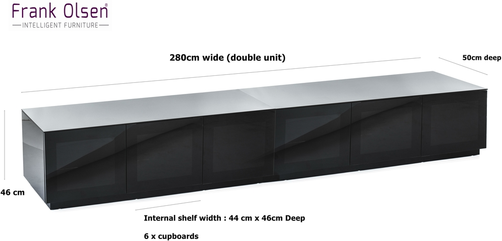 Great Elite Wide TV Cabinets Throughout Modern Extra Wide 28m Tv Cabinet In High Gloss Black Tv Media (View 42 of 50)