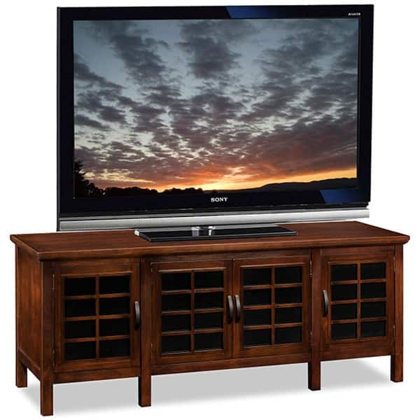 Great Famous Black Glass TV Stands Intended For Chocolateblack Glass 60 Inch Tv Stand And Media Console Free (View 25 of 50)