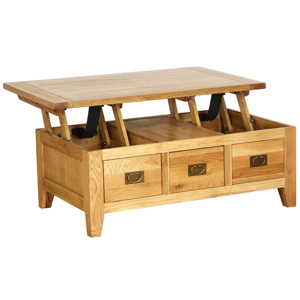 Great Famous Coffee Tables Extendable Top Inside Solid Oak Lift Top Rectangular Coffee Table With1 Drawer Nb (Image 15 of 50)