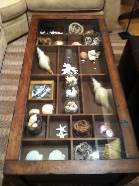 Great Famous Coffee Tables With Glass Top Display Drawer Regarding Best 25 Coffee Table Displays Ideas Only On Pinterest Coffee (Image 21 of 40)