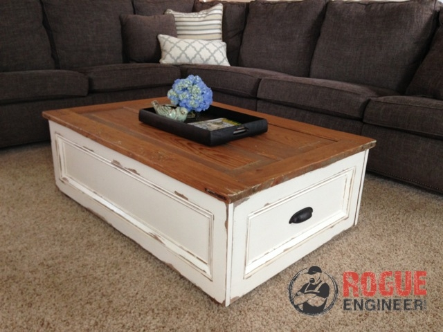 Great Famous Coffee Tables With Storage With Regard To Diy Coffee Table With Storage Free Plans Rogue Engineer (Image 20 of 40)
