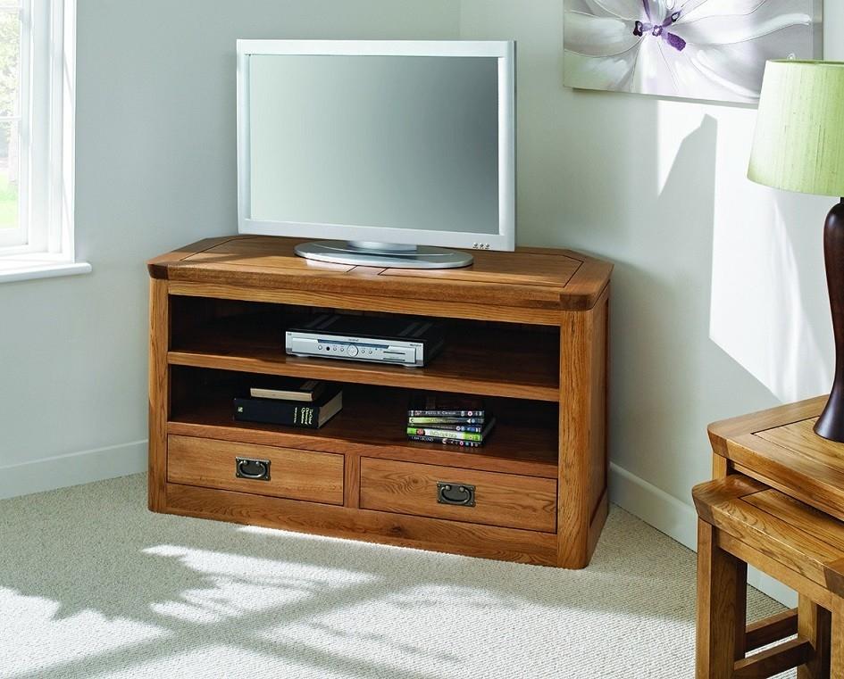 Great Famous Dark Oak Corner TV Cabinets In London Dark Oak Large Corner Tv Unit Hallowood (Image 23 of 50)