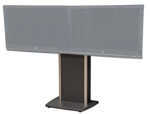 Great Famous Dual TV Stands For Avfi Stands Fixed Mobile Wall Mounted Height Adjustable (Image 23 of 50)
