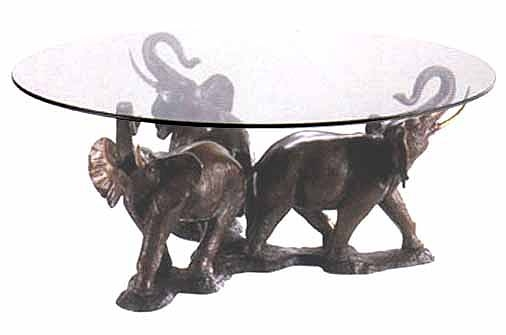 Great Famous Elephant Coffee Tables In 3 Elephants Coffee Table Sculpture (Image 26 of 50)