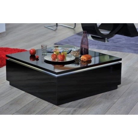 Great Famous Gloss Coffee Tables Pertaining To Orde Black High Gloss Coffee Table With Led Lights Coffee (View 24 of 50)