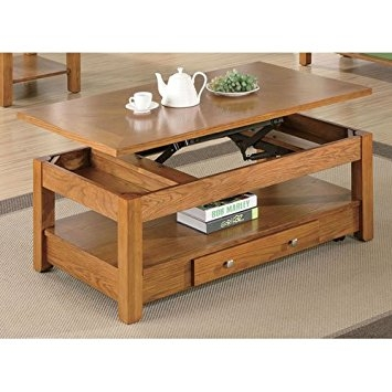 Great Famous Oak Coffee Table With Shelf For Amazon Coaster Occasional Group Collection 701438 48quot (Image 21 of 50)