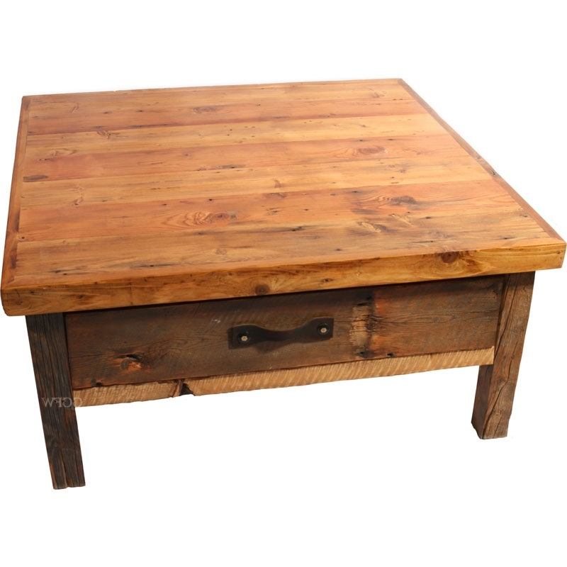 Great Famous Oak Square Coffee Tables For Rustic Oak Square Coffee Table Large Rustic Pine Coffee Table (Image 24 of 50)