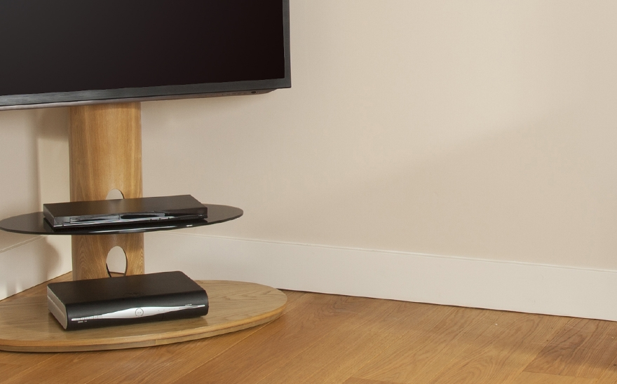 Great Famous Oak Veneer TV Stands With Buy Avf Chepstow Tv Stand Free Delivery Currys (View 45 of 50)