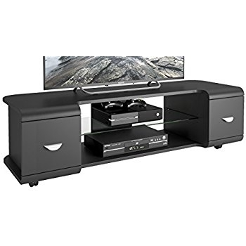 Great Famous Panorama TV Stands In Amazon Corliving Tmm 103 B Panorama Black Tv Stand With (View 48 of 50)