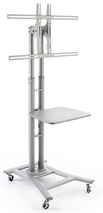 Great Famous Silver TV Stands Pertaining To Amazon Portable Flat Screen Tv Stand For 32 To 70 Monitors (Image 19 of 50)