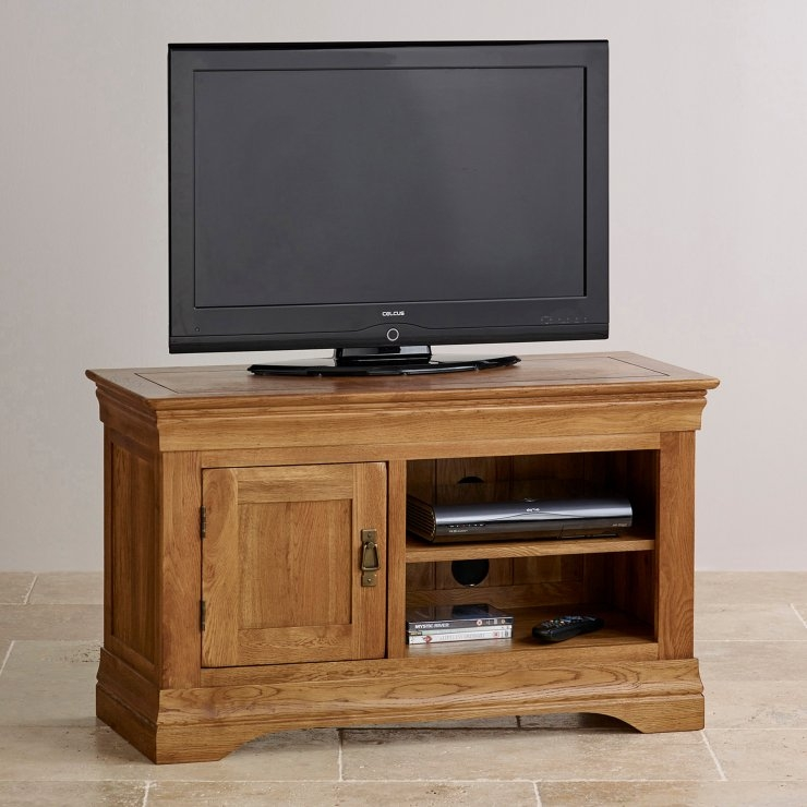 Great Famous Small TV Cabinets For French Farmhouse Tv Cabinet Solid Oak Oak Furniture Land (View 8 of 50)