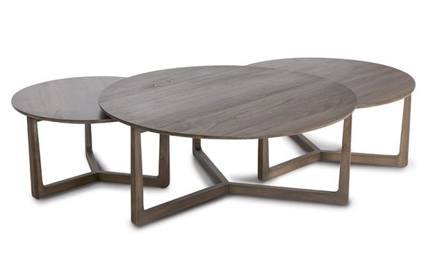 Great Famous Stackable Coffee Tables Pertaining To San Fran Deco Coco Republic Nested Round Coffee Tables Perfect (Image 19 of 50)