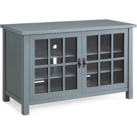 Great Fashionable Blue TV Stands Pertaining To Better Homes And Gardens Oxford Square Blue Tv Stand And Console (View 15 of 50)