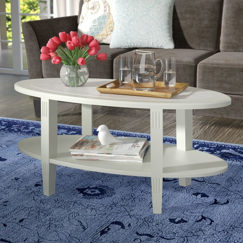 Great Fashionable Coffee Tables With Magazine Rack Within Charlton Home Versailles Coffee Table With Magazine Rack Reviews (Image 20 of 50)