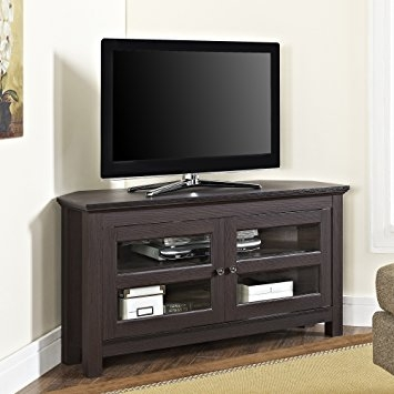 Great Fashionable Corner TV Stands In Amazon We Furniture 44 Cordoba Corner Tv Stand Console (Image 22 of 50)