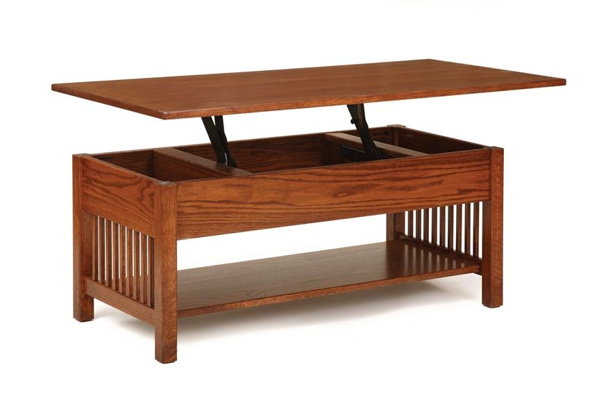 Great Fashionable Lift Top Oak Coffee Tables Throughout Classic Mission Rectangular Coffee Table With Lift Top From (Image 15 of 40)