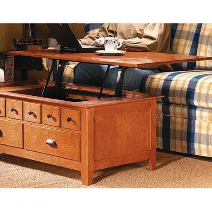 Great Fashionable Lift Up Coffee Tables Intended For Woodsmith Convertible Table Plan Rockler Woodworking And Hardware (Image 20 of 50)