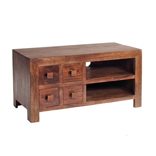 Great Fashionable Mango Wood TV Stands Pertaining To Mango Wood Tv Video Cabinet 16976 Furniture In Fashion (Image 21 of 50)