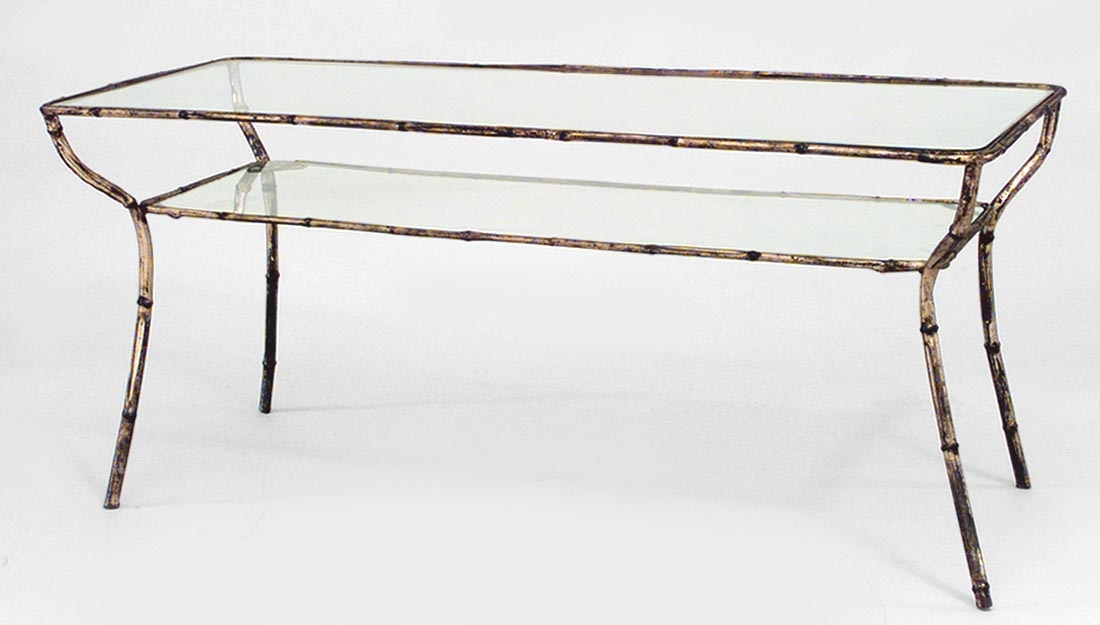 Great Fashionable Metal Coffee Tables With Glass Top Throughout Fabulous Gold And Glass Coffee Table (Image 23 of 50)