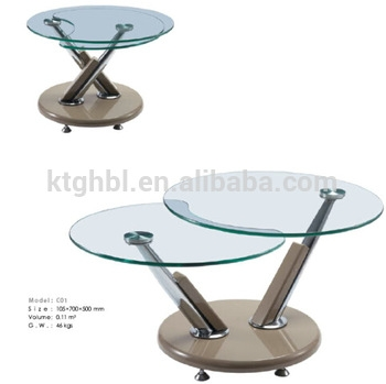 Great Fashionable Revolving Glass Coffee Tables Intended For Revolving Glass Coffee Table Coffee Addicts (Image 17 of 40)
