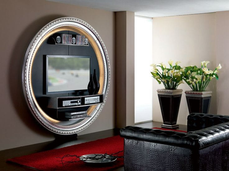 Great Fashionable Round TV Stands Within Tv Stand Tv Rack Tv Wallunit In Round Shape And Vases For A (Image 25 of 50)