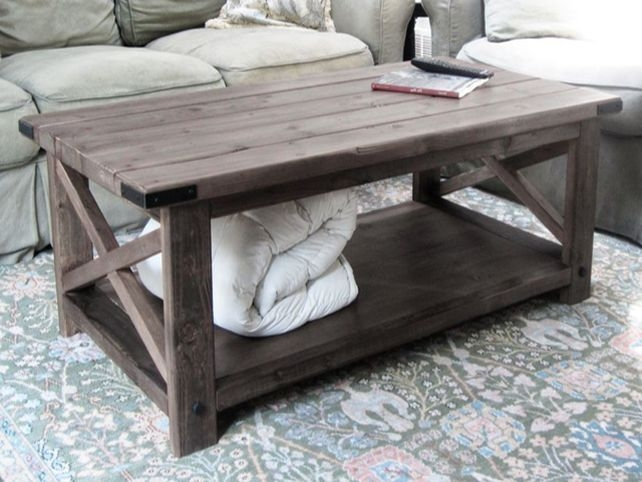 Great Fashionable Rustic Wood DIY Coffee Tables For Rustic Coffee Tables Image Of Rustic Coffee Table With Wheels (Image 21 of 50)