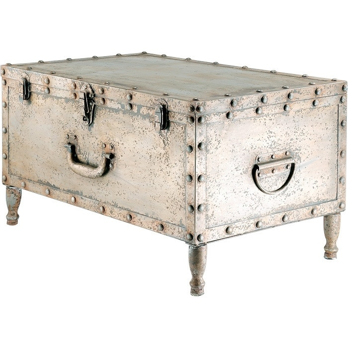 Great Fashionable Silver Trunk Coffee Tables Pertaining To Vintage Trunk Coffee Table Uk Coffee Table Steve Silver Steamer (View 9 of 40)