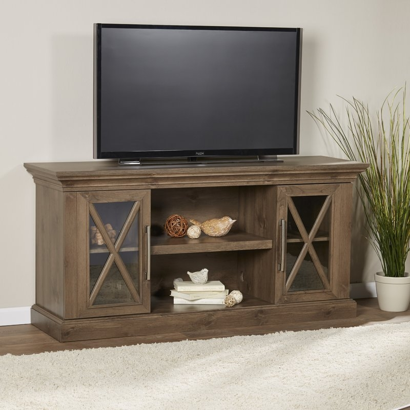 Great Fashionable Sleek TV Stands Throughout Loon Peak Carnarvon 58 Tv Stand Reviews Wayfair (Image 22 of 50)