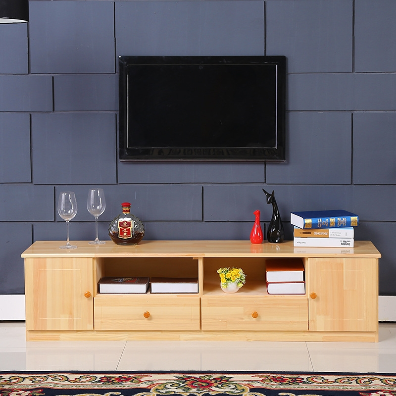 Great Fashionable Solid Pine TV Cabinets Intended For Tv Cabinet Combination Of Solid Wood Bedroom Storage Cabinets (Image 19 of 50)