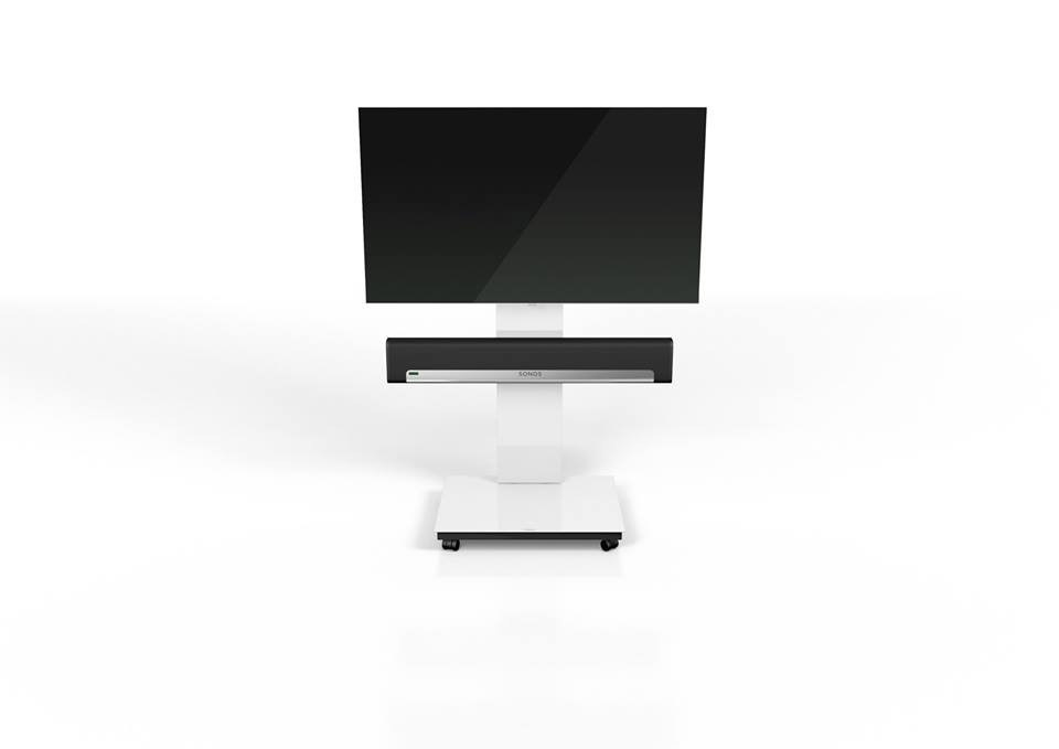 Great Fashionable Sonos TV Stands With Regard To Spectral Tray Px600sx White Gloss Glass Tv Stand W Sonos Playbar (View 12 of 50)