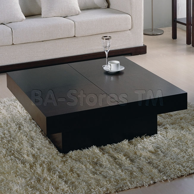 Great Fashionable Square Storage Coffee Tables Intended For Exellent Black Coffee Table With Storage I Decorating Ideas (View 8 of 50)
