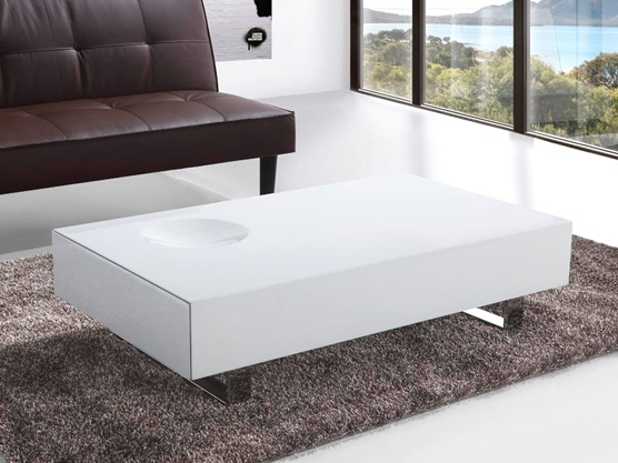 Great Fashionable White Gloss Coffee Tables Pertaining To Modern White Coffee Table (Image 22 of 50)