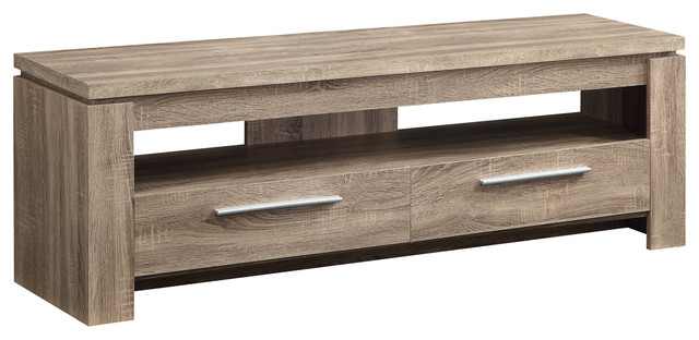 Great Fashionable Wood TV Stands With Weathered Finish Tv Stand Wood Tv Console Table 2 Drawers (Image 29 of 50)