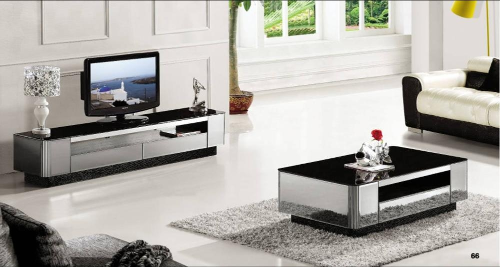 Great Favorite Coffee Table And Tv Unit Sets Regarding Aliexpress Buy Modern Gray Mirror Modern Furniture Coffee (Image 22 of 50)