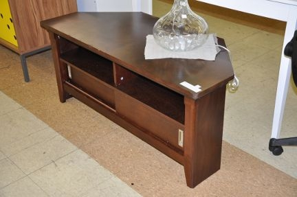 Great Favorite Dark Brown Corner TV Stands Regarding Avington Corner Media Tv Stand Dark Tobacco Shop Checkouts (View 16 of 50)