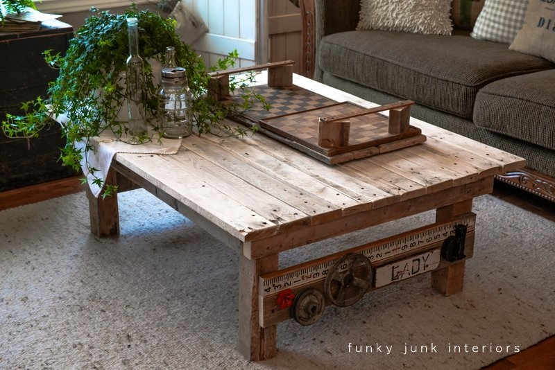 Great Favorite Funky Coffee Tables With My New Junk Styled Pallet Wood Coffee Table Funky Junk (View 24 of 50)