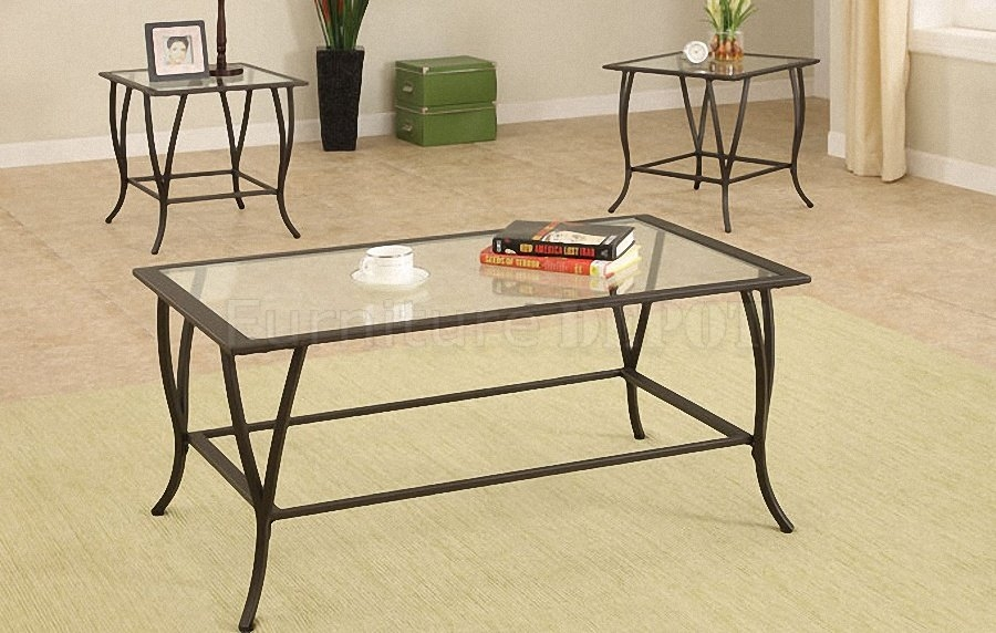 Great Favorite Glass Steel Coffee Tables Regarding Metal And Glass Coffee Table (Image 22 of 50)