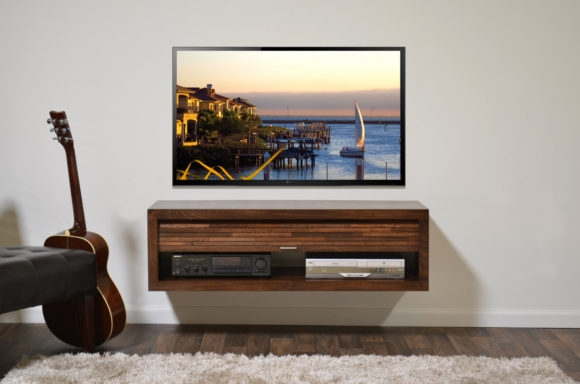 Great Favorite Led TV Cabinets Within Furniture Rectangle Brown Wooden Floating Tv Cabinets With (Image 22 of 50)