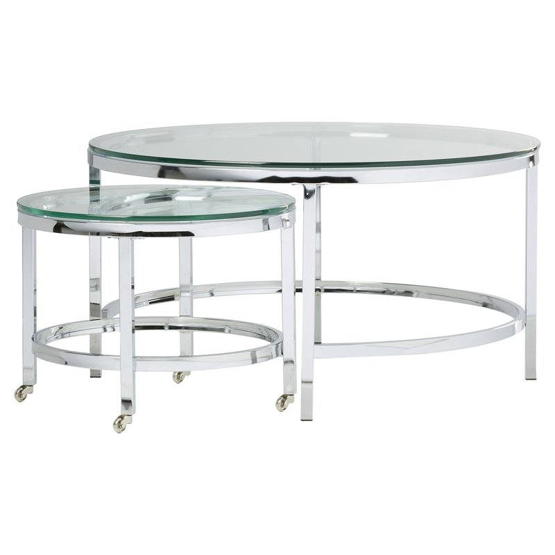 Great Favorite Modern Glass Coffee Tables Regarding Modern Glass Coffee Tables Allmodern (View 45 of 50)