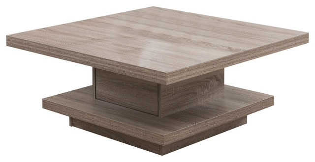 Great Favorite Oak Square Coffee Tables In Olivier Modern Square Coffee Table Light Oak Contemporary (View 15 of 50)