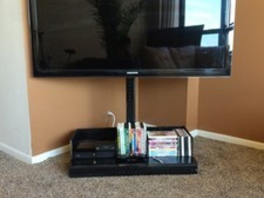 Great Favorite Off The Wall TV Stands Inside Jb Flat Screen Tv Stand Gets Your Tv Off The Wall And Moving (View 25 of 50)
