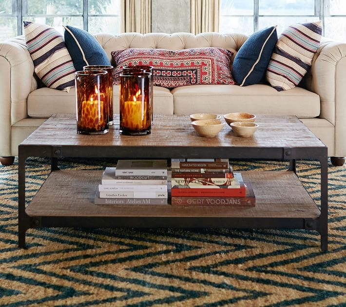 Great Favorite Reclaimed Wood Coffee Tables With Clint Reclaimed Wood Coffee Table Pottery Barn (View 19 of 50)