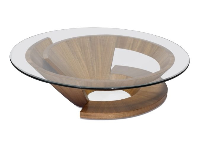 Great Favorite Round Glass And Wood Coffee Tables Regarding Glass And Wood Coffee Tables (View 3 of 50)