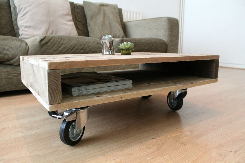 Great Favorite Rustic Coffee Table With Wheels With Table Wheel Coffee Table Home Interior Design (Image 21 of 50)