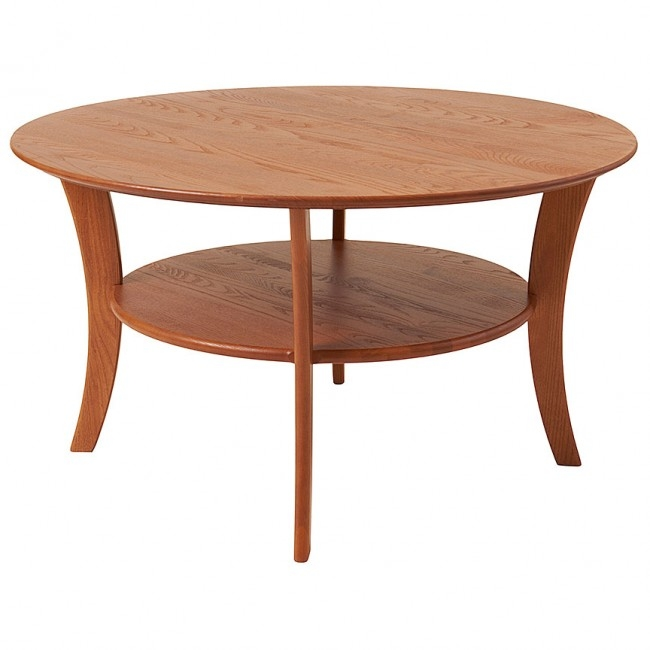 Great Favorite Solid Round Coffee Tables Inside Round Coffee Table Solid Wood Accent Tables Manchesterwood (Image 18 of 40)