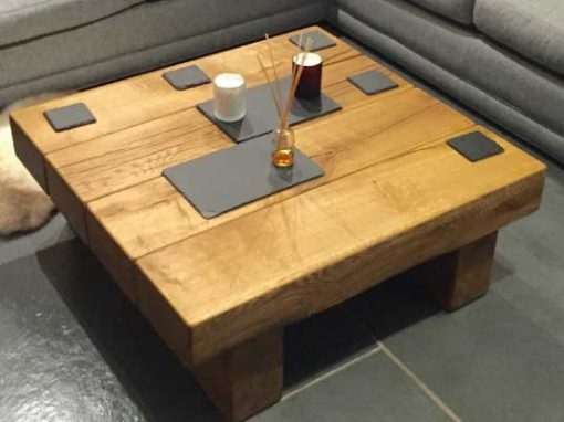 Great Favorite Square Oak Coffee Tables Intended For Square Oak Coffee Tables Abacus Tables (Image 19 of 50)